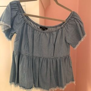 Women's Forever 21 Off the sleeve Top